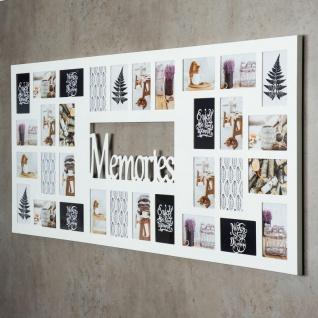 Bilderrahmen 139x60cm Holz Weiß Memories 32 Fotos 10x15 Fotorahmen - Vorschau 2