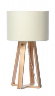 Tischlampe Holz Weiß 40cm hoch Skandinavisch Tischleuchte Licht