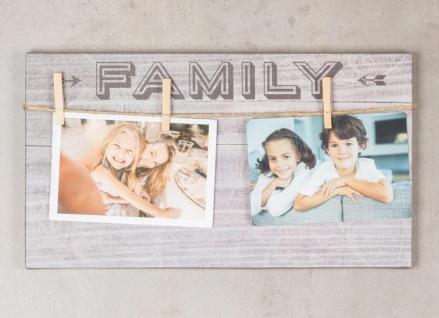 3er Set Wandbilder 36x20cm Bilderrahmen Sprüche Klammern Schilder Deko - Vorschau 4