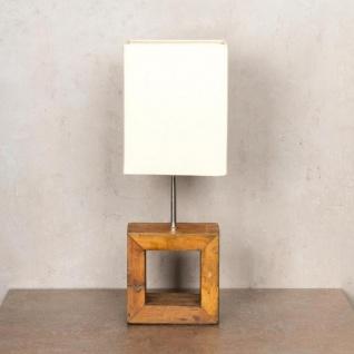 Tischlampe 16 x 45 x 16 cm Treibholz Tischleuchte Holz Lampe Teakholz Deko - Vorschau 4