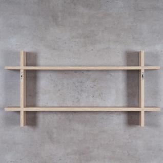 Regal BxH 98x48cm Holz Steckregal Sonoma Eiche Wandregal Bücherregal Ablage Deko - Vorschau 5