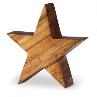 Stern Holzstern Akazie 15cm Akazienholz Braun Natur Deko Tischdeko Holzdeko
