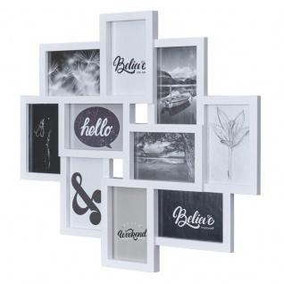 Bilderrahmen Weiß 10 Fotos Fotogalerie Fotocollage 3D Optik Collage Wanddeko