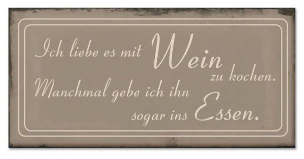 Blech-Schilder 3er Set je 18, 5 x 9 cm Sterneküche Metall Schild Wanddekoration - Vorschau 3