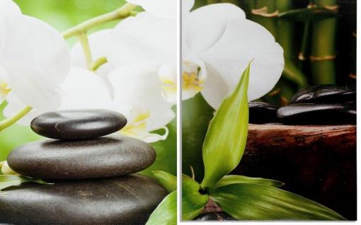 Wandbild 4 teilig Spa Wellness Kerzen Orchidee Feng Shui Bild Leinwand - Vorschau 2