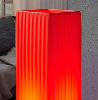 Stehleuchte / Stehlampe in rot 15x15cm Höhe: 120cm Standlampe Lampe 3