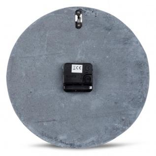 Hochwertige Beton-Uhr Wanduhr 30cm Grau Kupfer Uhrzeit modern Wanddeko - Vorschau 4