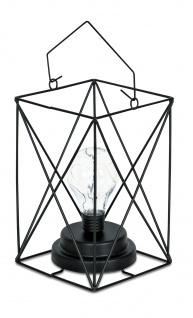 Lampe LED Metall Schwarz 12x19cm Industrie Leuchte Industrial Design Vintage