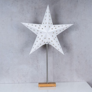 LED Stern B x H 43x67cm Weihnachtsstern Standfuß Deko Lampe Leuchte Tischlampe - Vorschau 2