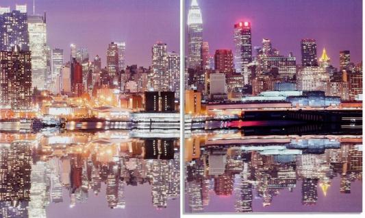 Wandbild 4 teilig Manhattan Skyline New York USA Amerika Bild Leinwand - Vorschau 2