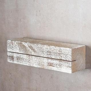 levandeo Schlüsselbrett Holz Massiv 35x10cm Shabby Chic lackiert Schlüsselleiste - Vorschau 3
