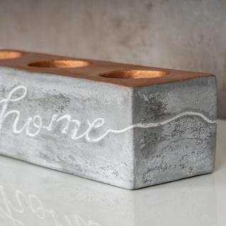 levandeo Teelichthalter Beton Kupfer Home 23x6cm Industrial Kerzenhalter Retro - Vorschau 3