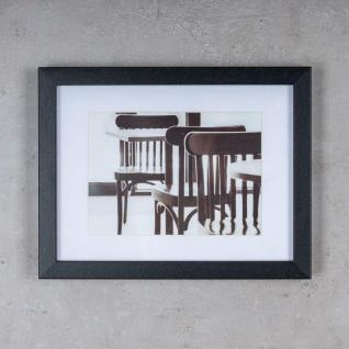 levandeo 3er Set Bilderrahmen 13x18cm Schwarz Holz MDF Glasscheiben Rahmen - Vorschau 4