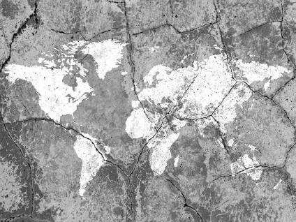 Leinwandbild 80x60cm Weltkarte Erde Urlaub Echtholz Keilrahmen Wanddeko Wandbild