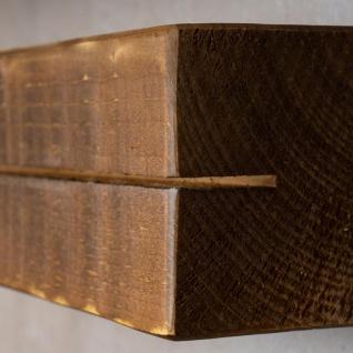 levandeo Schlüsselbrett Holz Massiv 35x10cm Nussbaum lackiert Schlüsselleiste - Vorschau 5