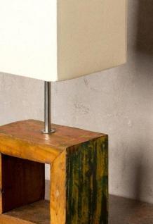 Tischlampe 16 x 45 x 16 cm Treibholz Tischleuchte Holz Lampe Teakholz Deko - Vorschau 5