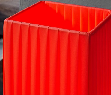 Stehleuchte / Stehlampe in rot 15x15cm Höhe: 120cm Standlampe Lampe 4