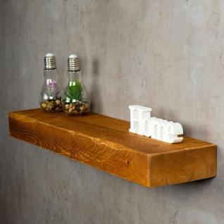 levandeo Wandregal Holz Massiv 80x20cm Teak Farbig Wandboard Regal Vintage Bord