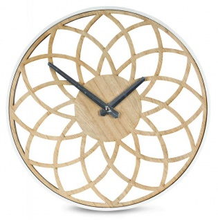 Wanduhr 30x30cm Mandala Holz Uhr Küchenuhr Wanddeko Dekoration Design Deko