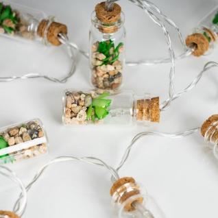 Lichterkette Innen 10 LED Lampe Sukkulenten Gläser Pflanzen Kunstpflanze Deko - Vorschau 3