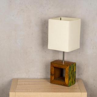 Tischlampe 16 x 45 x 16 cm Treibholz Tischleuchte Holz Lampe Teakholz Deko - Vorschau 3