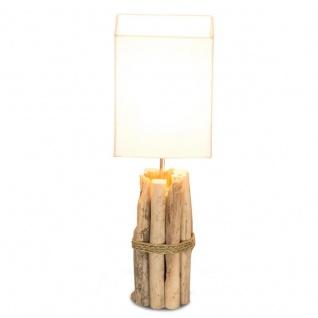 Tischlampe 17x50x17cm Treibholz Tischleuchte Unikat Holz Lampe Licht - Vorschau 2