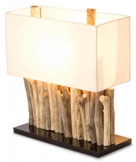 levandeo Lampe 35 x 40 x 16 cm Tischlampe Treibholz Unikat Holzlampe Design Deko
