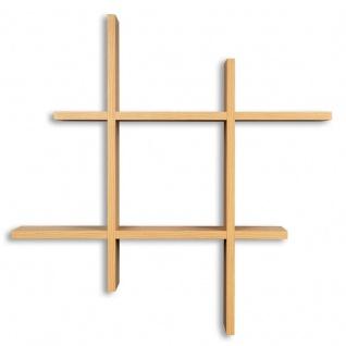 levandeo Hashtag Regal 75x75cm Wandregal Holz Kernbuche Bücherregal Hängeregal