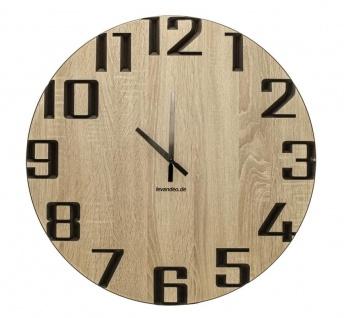 Wand-Uhr Holz 60cm Sonoma Eiche Deutsche Herstellung modern Marke