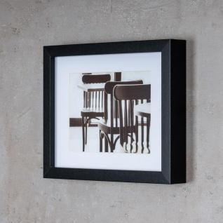 levandeo 3er Set Bilderrahmen 13x18cm Schwarz Holz MDF Glasscheiben Rahmen - Vorschau 5