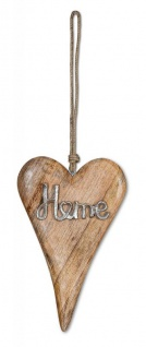 Aufhänger Mango Holz Schriftzug Home H26cm Wanddeko Türschild Holzdeko Deko