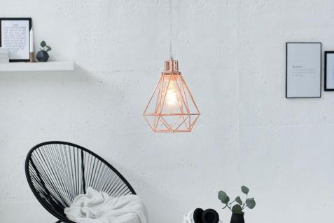 Lampe Hängelampe H20cm Kupfer Deckenleuchte Industrial Design Pendelleuchte - Vorschau 2