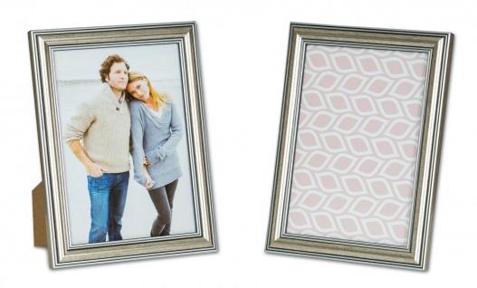 2er Set Bilderrahmen 13x18cm Fotorahmen Silber Antik Portraitrahmen Glas