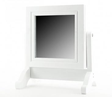 Schmuckkasten Schmuckschrank Holz weiß mit Spiegel