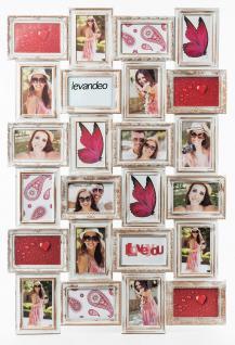 Bilderrahmen weiß gold 24 Fotos Barock Fotorahmen Collage Galerie