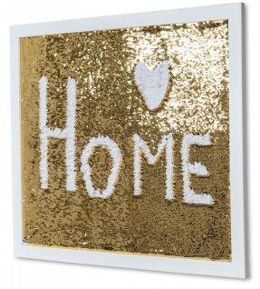 Wanddeko Pailletten Rahmen 60x50cm Gold Streichpailletten Paillettenrahmen Memo