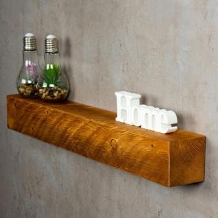 levandeo Wandregal Holz Massiv 80x10cm Teak Farbig Wandboard Regal Vintage Bord