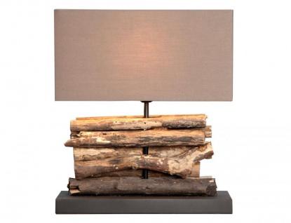 Lampe Tischlampe aus Holz Holzlampe Tischleuchte Treibholz 40cm hoch
