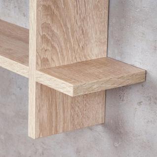 Regal BxH 98x48cm Holz Steckregal Sonoma Eiche Wandregal Bücherregal Ablage Deko - Vorschau 4