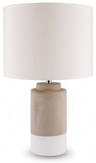 Lampe H x B: 42x25, 5cm Grau Weiß Beton Tischleuchte Design Tischlampe
