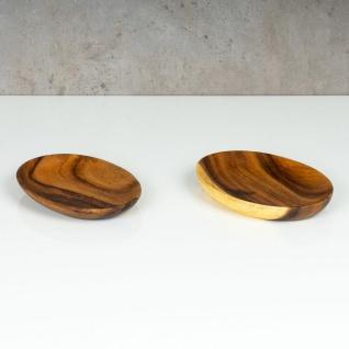 Holzschale Akazie 19cm Oval Design Snackschale Schale Obstschale Dekoschale - Vorschau 3