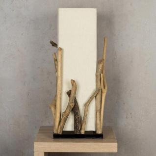 Lampe Tischlampe aus Holz Holzlampe Tischleuchte Treibholz 50cm hoch - Vorschau 3