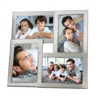 Fotoaufsteller 4 Fotos Silber Tischgalerie Fotorahmen Bilderrahmen