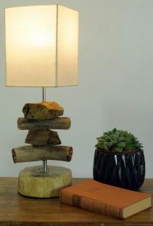 Tischlampe 15 X 50 X 15 Cm Treibholz Tischleuchte Holz Lampe