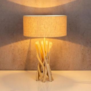 Lampe Tischlampe 62cm Holz Holzlampe Unikat Braun Treibholz Leuchte Deko - Vorschau 3