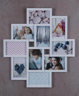 Bilderrahmen weiß 10 Fotos Fotogalerie Fotocollage 3D Optik Collage - Vorschau 3