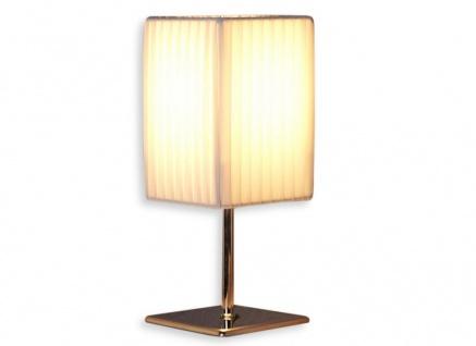 Nacht-Tischlampe Lampe in weiß aus Latex - Leuchte Licht Chromgestell - Vorschau 1