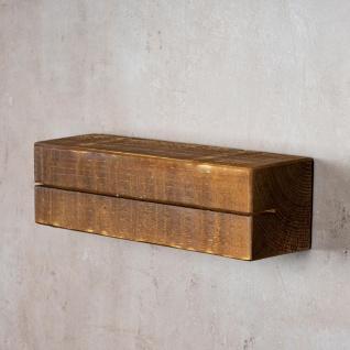 levandeo Schlüsselbrett Holz Massiv 35x10cm Nussbaum lackiert Schlüsselleiste - Vorschau 3