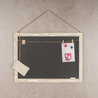 Rechteckige Memotafel 50x40cm Kreide-Tafel Holz Vintage Shabby Chic - Vorschau 2