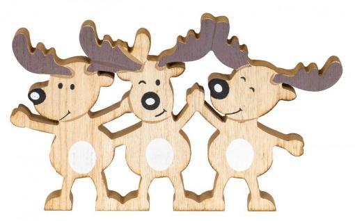 Tischdeko Rentierfamilie Weihnachtsdeko Holz Weihnachten Deko Christmas Xmas